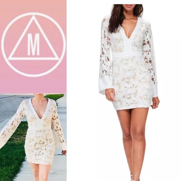 2d9a7ef47f5 Missguided White Nude Lace Illusion Kimono Dress